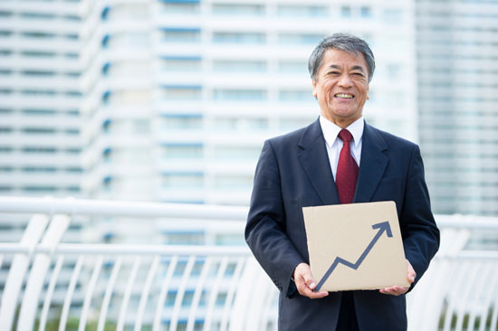 Happy IR Professional with Increasing Stock Price