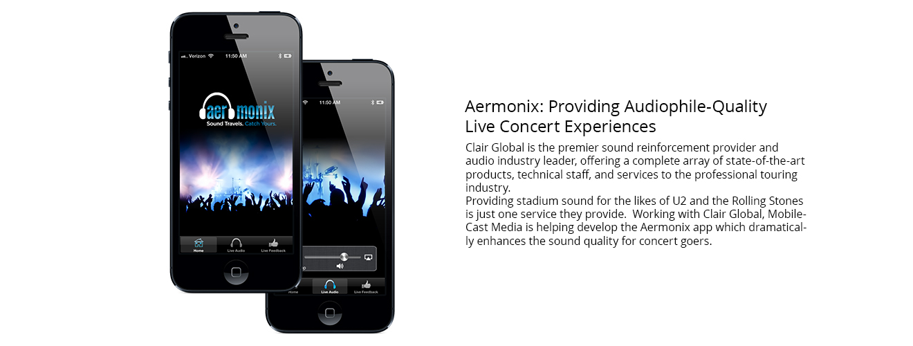 Aermonix app developed, in part, by MobileCast Media.