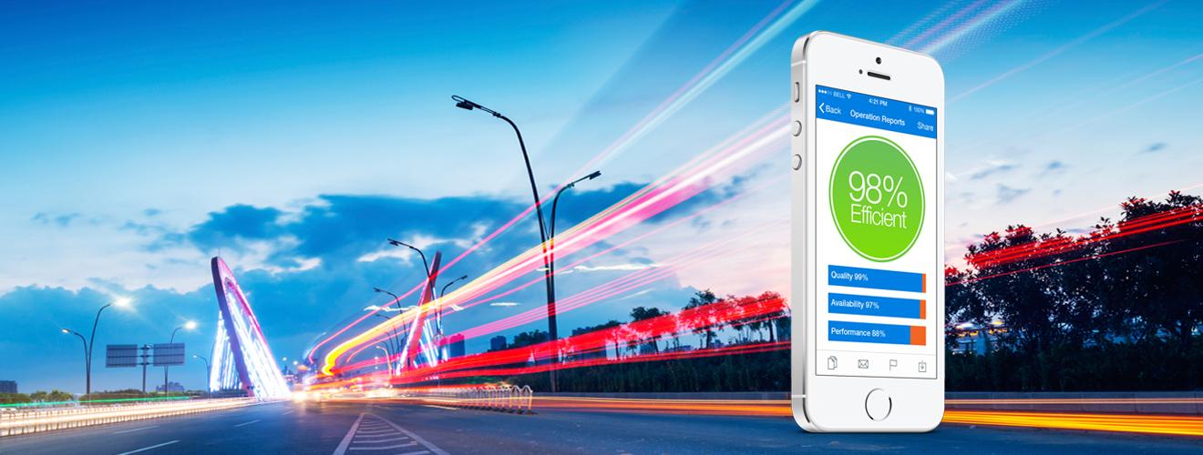 Cars driving over bridge in San Francisco, mobile app development company showcasing app