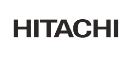 Hitachi logo.