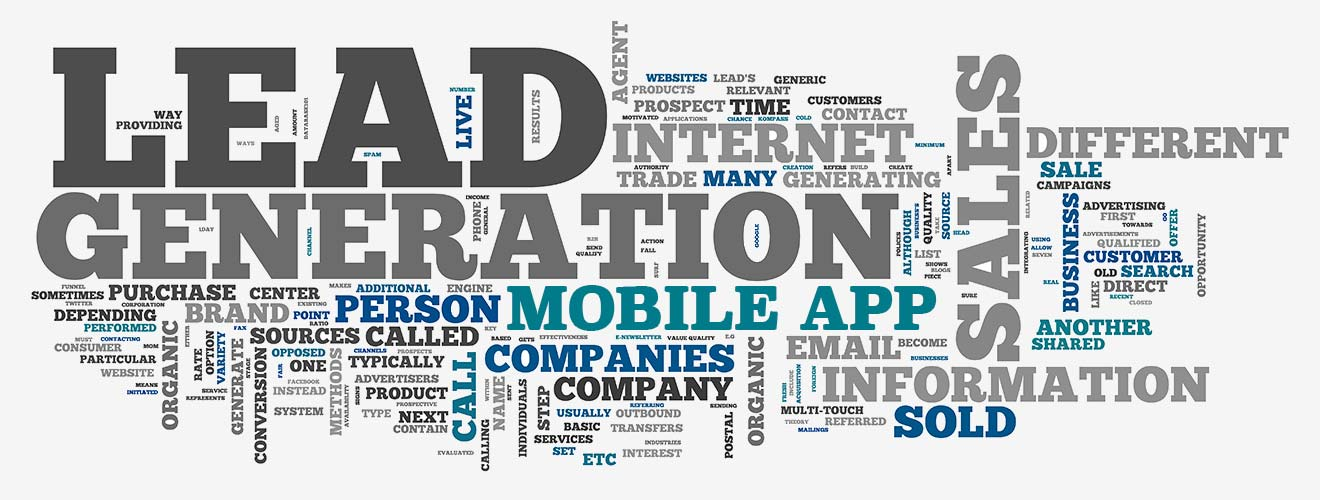 Mobile Lead Generation Word Cloud